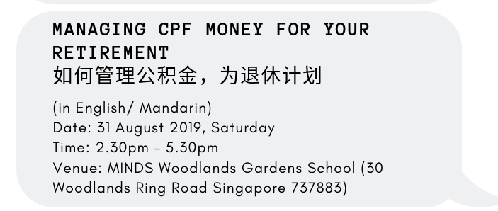 Managing CPF Money For Your Retirement 如何管理公积金,为退休计划