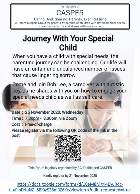 CASPER Forum: Journey With Your Special Child