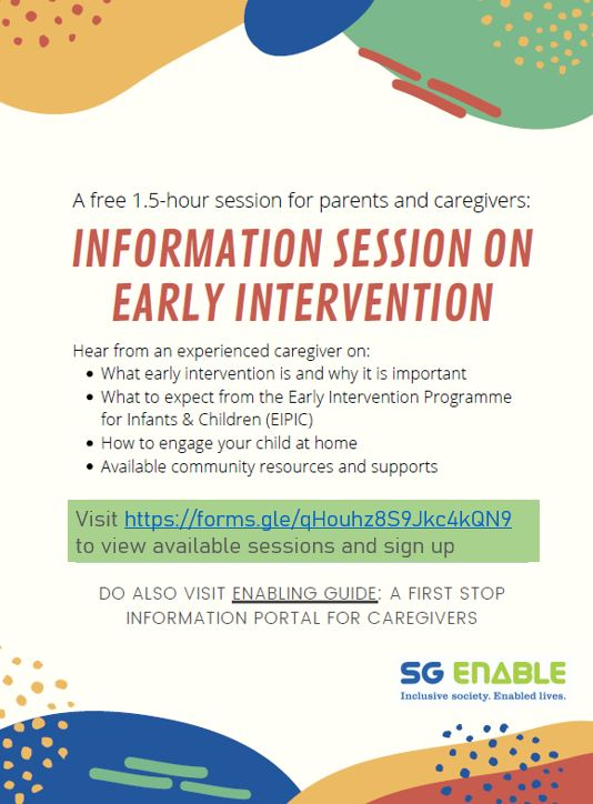 Information Session On Early Intervention