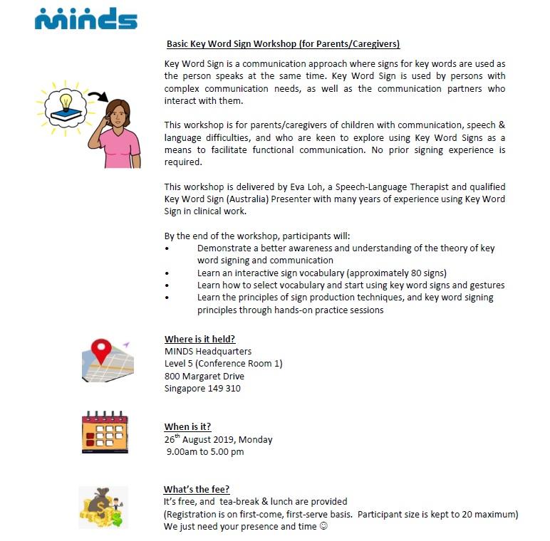 Basic Key Word Sign (Australia) Workshop For Parents/Caregivers