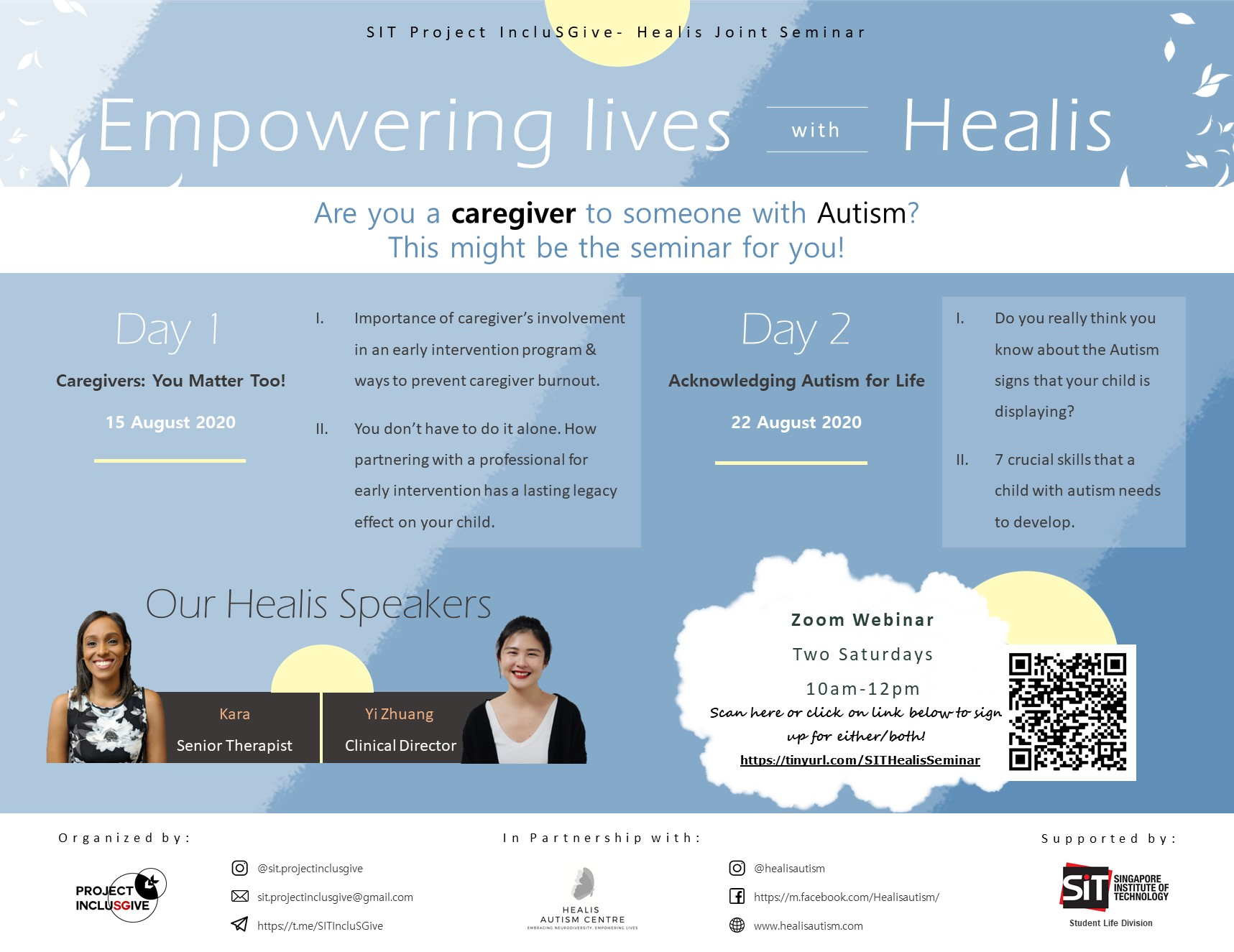 SIT Project Inclusgive - Healis Joint Seminar: Empowering Lives With Healis