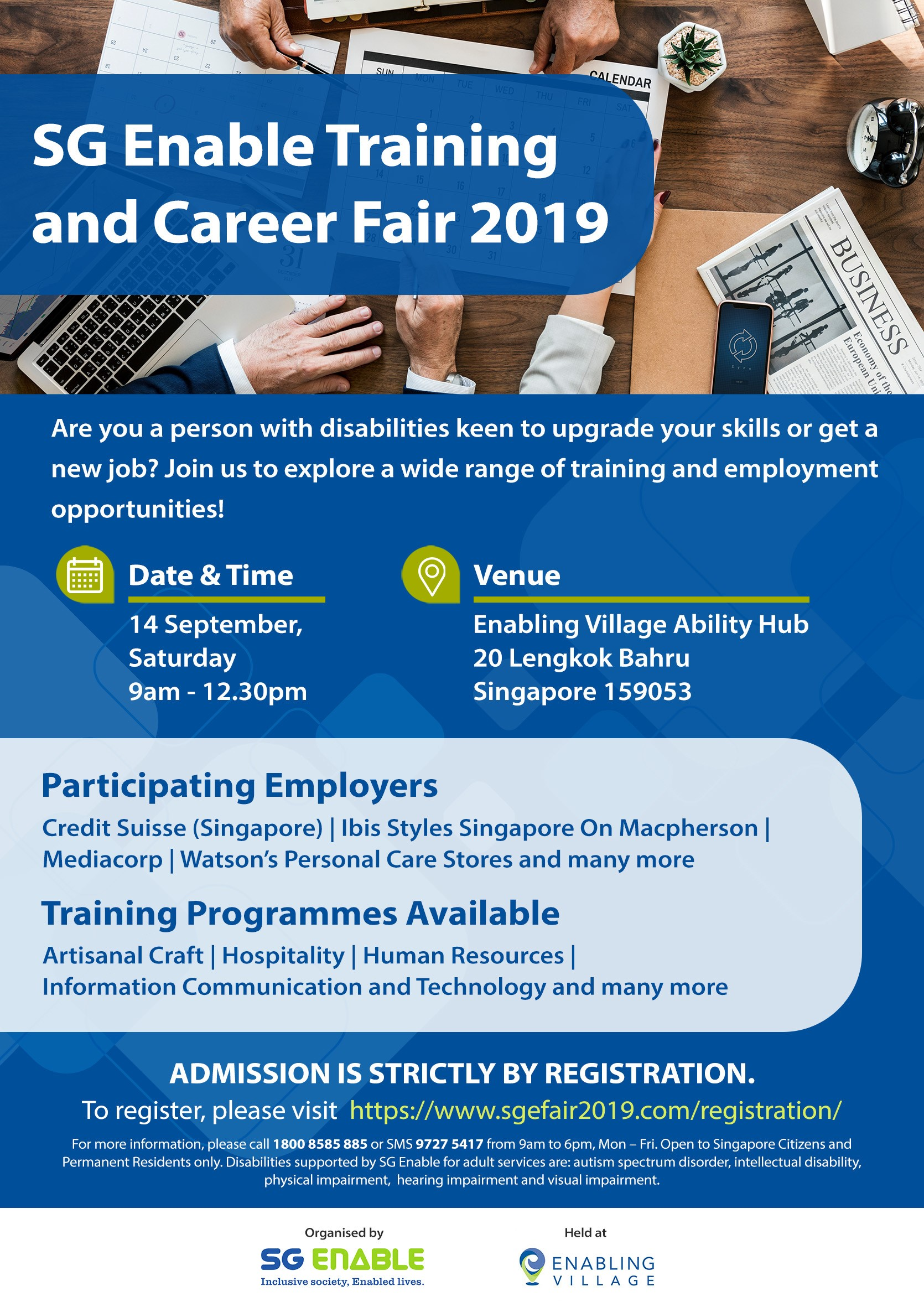 SG Enable Training And Career Fair 2019