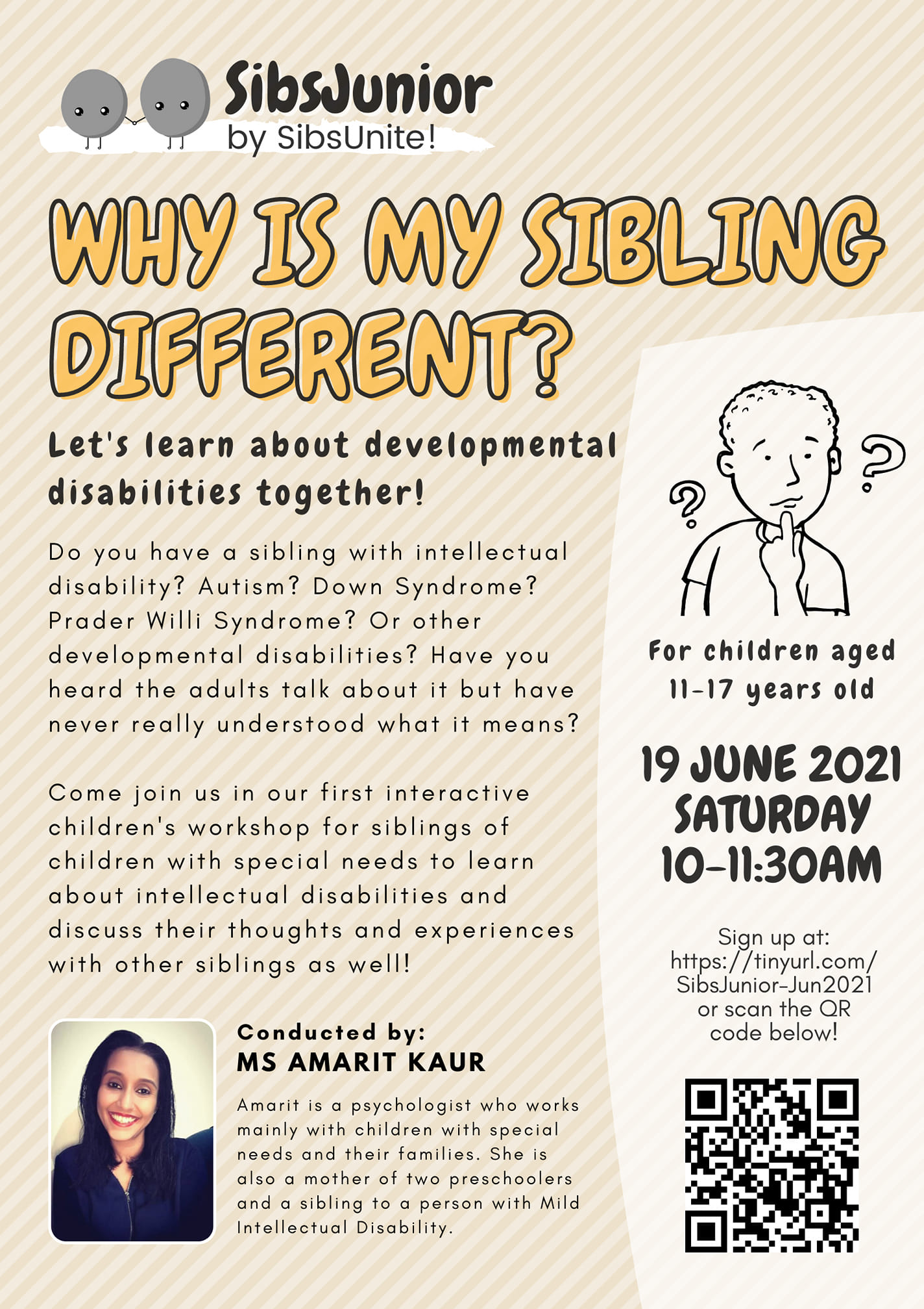 Sibsjunior Workshop: Why Is My Sibling Different?
