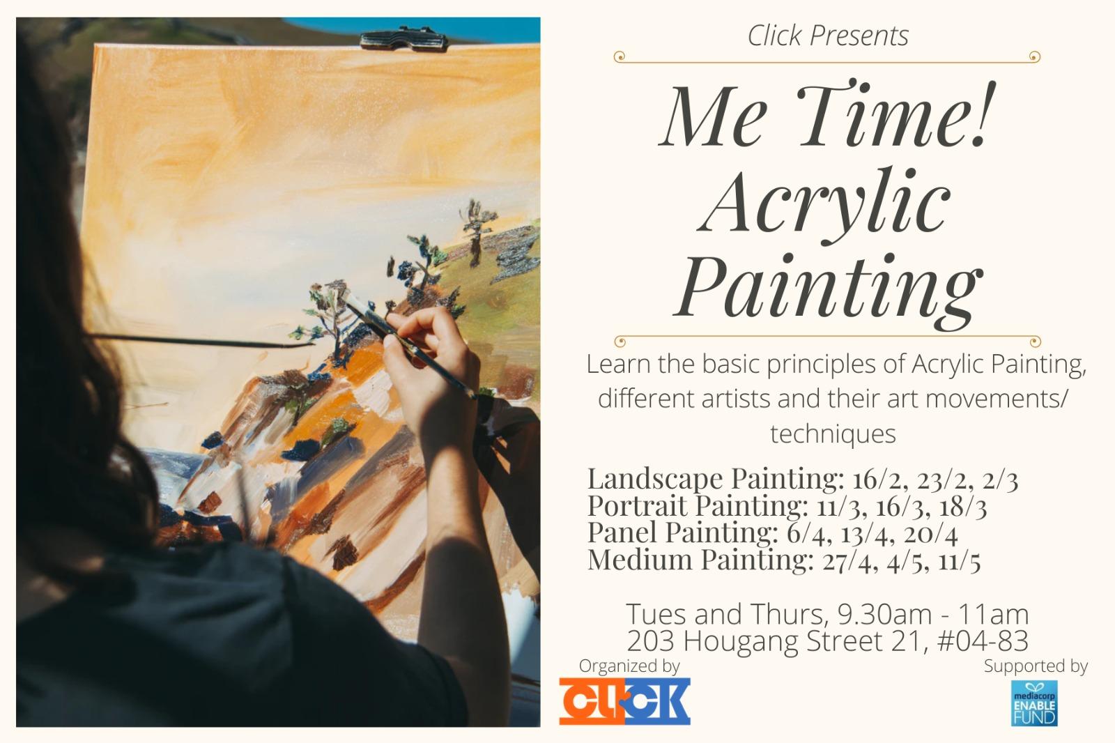 Me Time! Acrylic Art Workshop