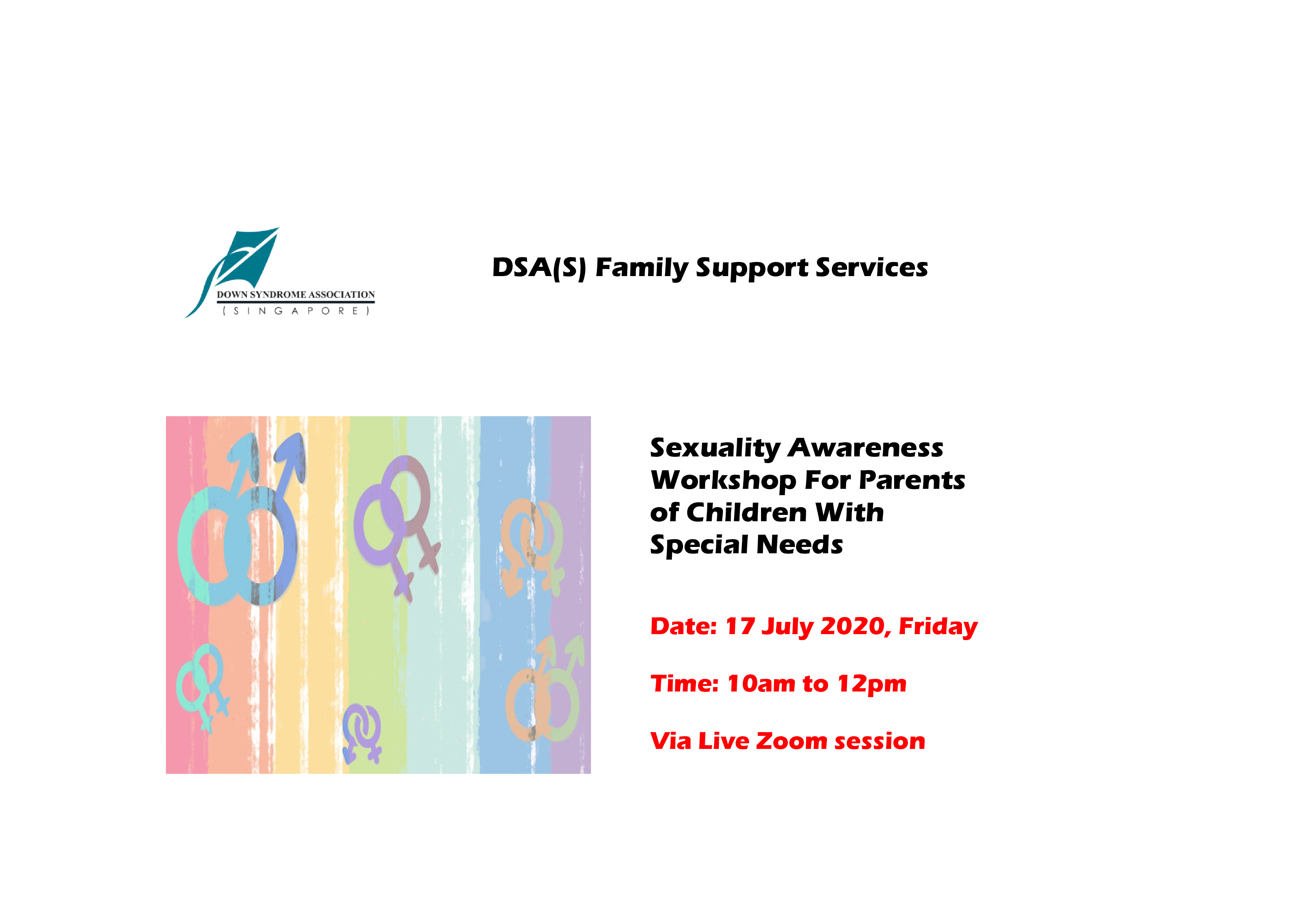 DSA Online Workshop - Sexuality Awareness Workshop For Parents Of Children With Special Needs