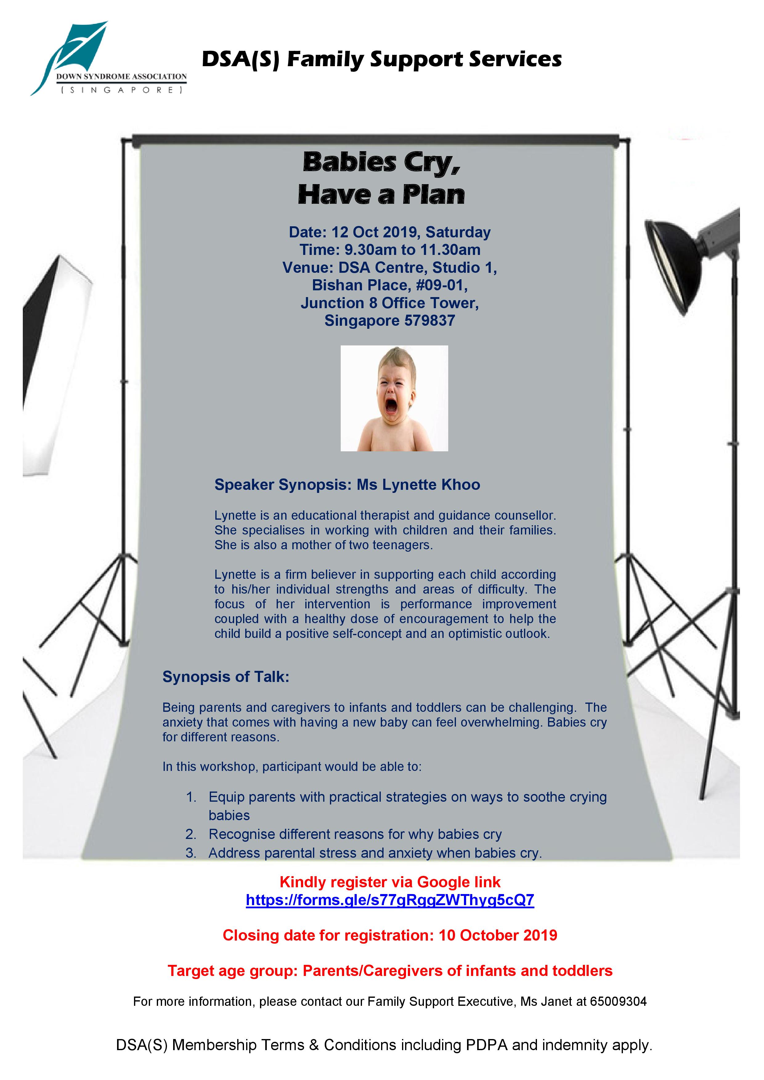 DSA Workshop - Babies Cry, Have A Plan